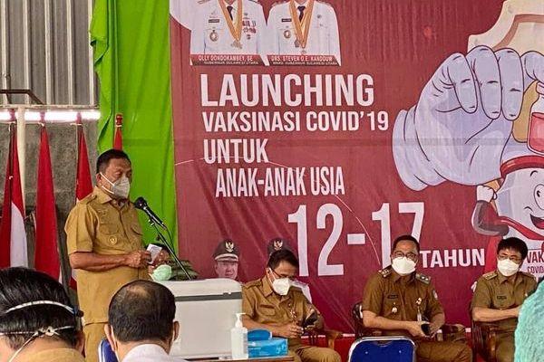 Gubernur Olly Canangkan Vaksinasi Covid-19 untuk Anak 12 – 17 Tahun
