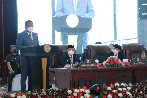 Gubernur Olly Hadiri Rapat Paripurna HUT ke-398 Kota Manado