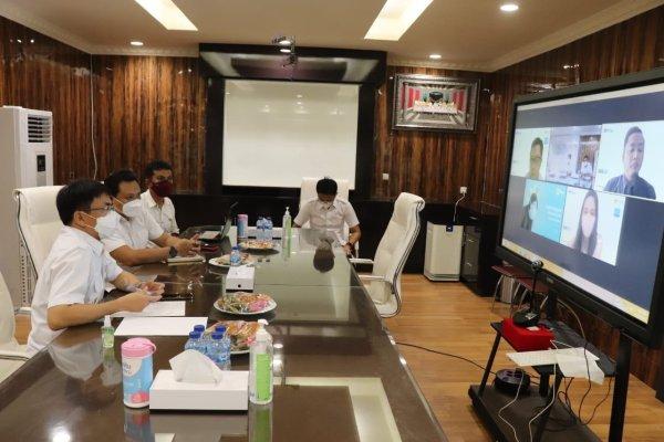 Walikota dan Wakil Walikota Manado Rapat Virtual dengan PLN Manado soal PJU
