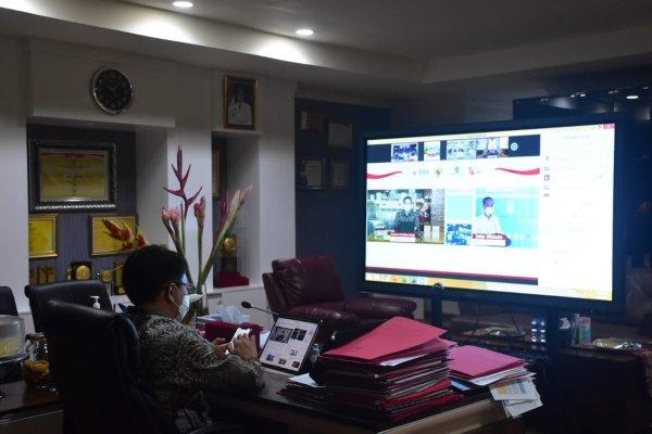 Walikota Angouw Hadiri Rapat Secara Virtual Bersama Presiden Jokowi