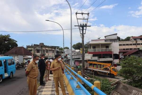 Kembali Walikota Tinjau Anak Sungai dan Drainase Hingga Jembatan Megawati