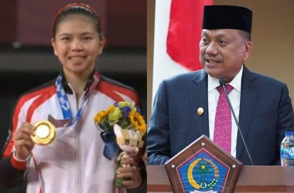 Raih Emas di Olimpiade, Gubernur Olly Beri Kado Rumah untuk Greysia Polii