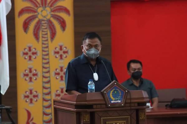 Hadiri Rapat Paripurna DPRD Sulut, Gubernur Olly Sampaikan Rancangan Perubahan KUA dan PPAS APBD Sulut Tahun 2021