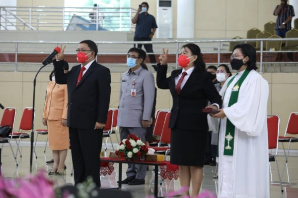 Dua Peiabat Minahasa Masuk Pemprov, Gubernur Olly Minta Mangala dan Roring Jalankan Visi dan Misi ODSK