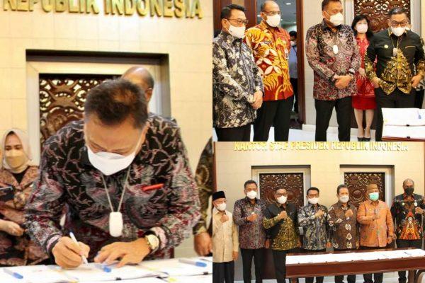 Gubernur Sulut Bersama 5 Provinsi di Indonesia Timur Tandatangani PKS Sektor Kelautan dan Perikanan