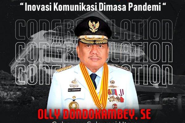 Olly Dondokambey Raih Penghargaan Kategori Gubernur Terpopuler di Media Digital