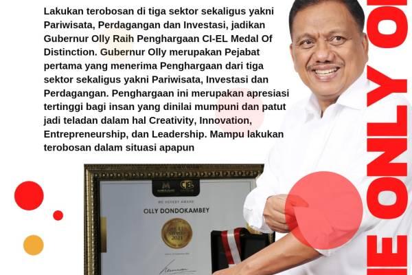 Gubernur Olly Sabet CI-EL Medal of Distinction