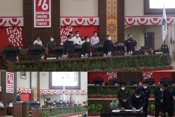 Hadiri Pengambilan Keputusan Terhadap Ranperda Perubahan APBD Provinsi T.A. 2021, Wagub Apresiasi Kinerja DPRD Sulut