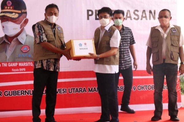 """Walikota Manado Hadiri Kegiatan """"Gerakan Mobil Masker"""""""