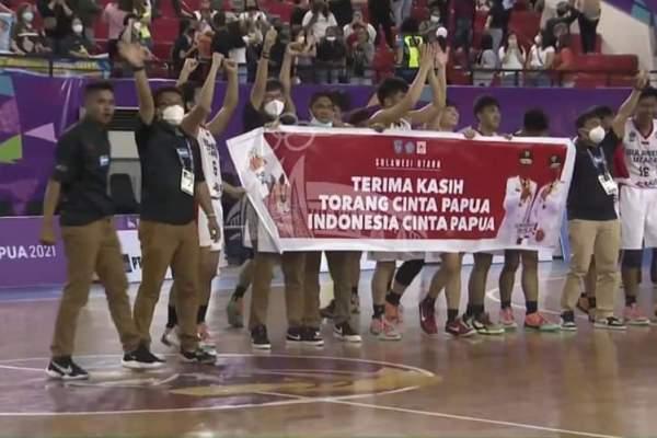 Tim Basket Putra Sulut) Cetak Sejarah di PON XX Papua