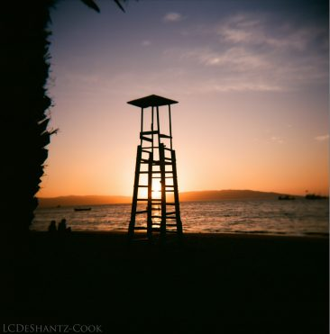 lifeguard tower, Kodak Ektar 100