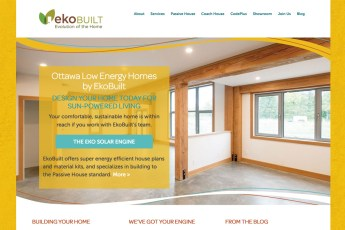 EkoBuilt Home Building Solutions: EkoBuilt builds super energy efficient house plans and material kits, and specializes in building to the Passive House standard. In 2015 we launched a new brand and a customized WordPress website for EkoBuilt. In 2017 we refreshed the site and built on our ongoing marketing efforts for the business. To see the full site please go to www.ekobuilt.com.