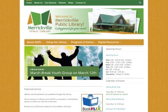 The Merrickville Public Library came to us because they knew that they needed a new site in order to better organize their content and to be mobile-friendly. There were elements about their old site that they really liked, including a more structured look and feel and not a ton of white space, so a Wordpress template was selected that answered to all these wants and needs, styled to be consistent with their new branding, also designed by Sumack Loft. To see the full site please go to www.merrickvillelibrary.ca.