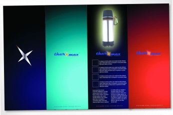 Concept, art direction, and design of logo and packaging for new Thermos product (while working at Pi Media in Toronto). Several concepts were presented, and while they picked a different design I created, this one was always my favourite with its edgy design and brilliant colours.