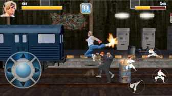 StreetRageFighter ジャンプキックは1撃で相手をダウンさせます