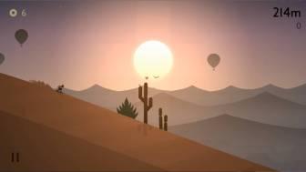 alto odyssey 広大な砂漠を滑る