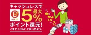 キャッシュレス・消費者還元事業で最大5%還元
