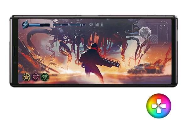 Xperia 1大画面でゲームプレイ