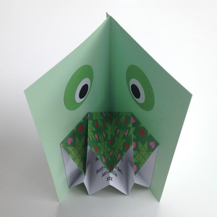 Dinosaur origami card