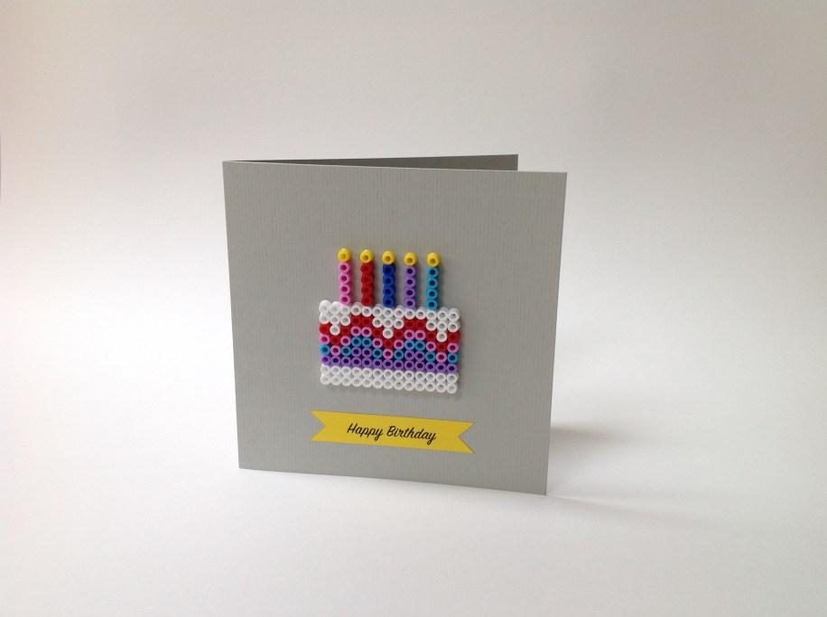 Hama bead card