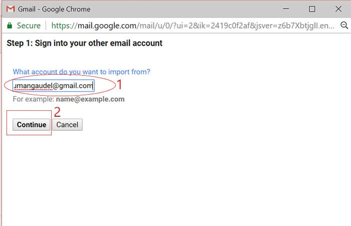 Backup Gmail Emails to Another Gmail Account Image for Put an old email address