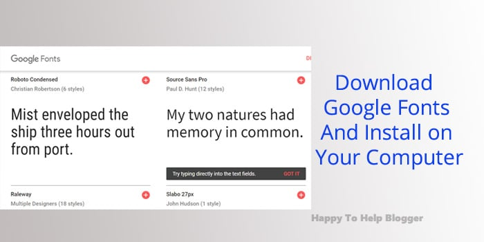 Google fonts download featured image