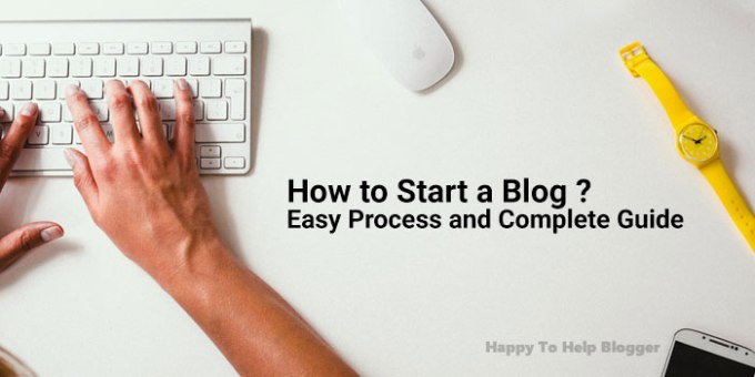 how to start a blog feature image