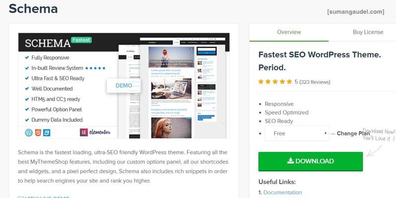 Best Free WordPress Themes Schema