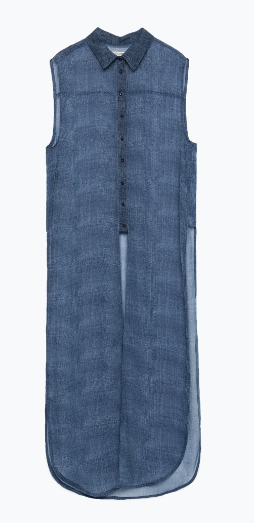 Camisa Larga-Zara