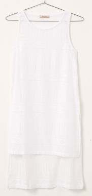 Camiseta asimetrica de encaje-Bershka