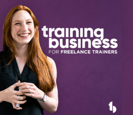 Podcast episode for freelance trainers by Suman Kher with Mark Garret Hayes