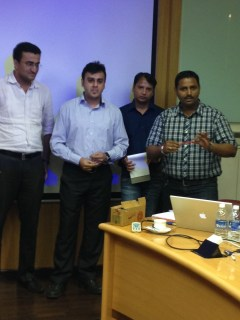 Participants making their presentation
