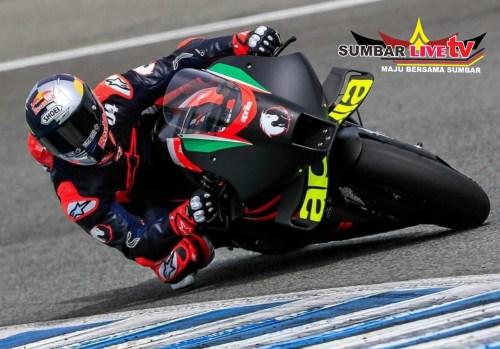 Andrea Dovizioso jajal mesin Aprilia RS-GP