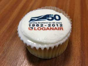 Loganair Cupcake