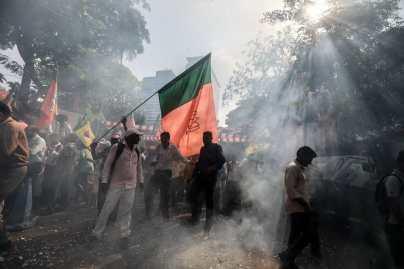 BJP supporters.