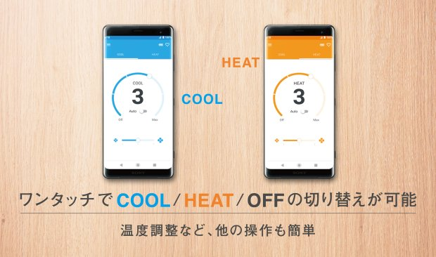 Bluetooth connectivity helps to regulate temperature.
