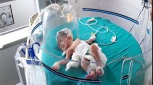 Baby girl dumped in the drain by a woman in Kaithal district of Haryana.