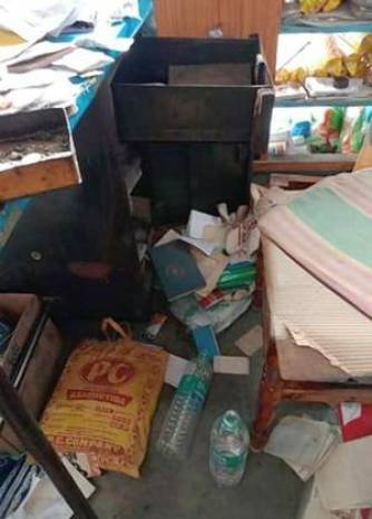 Burglar ransacked the store out of frustration.