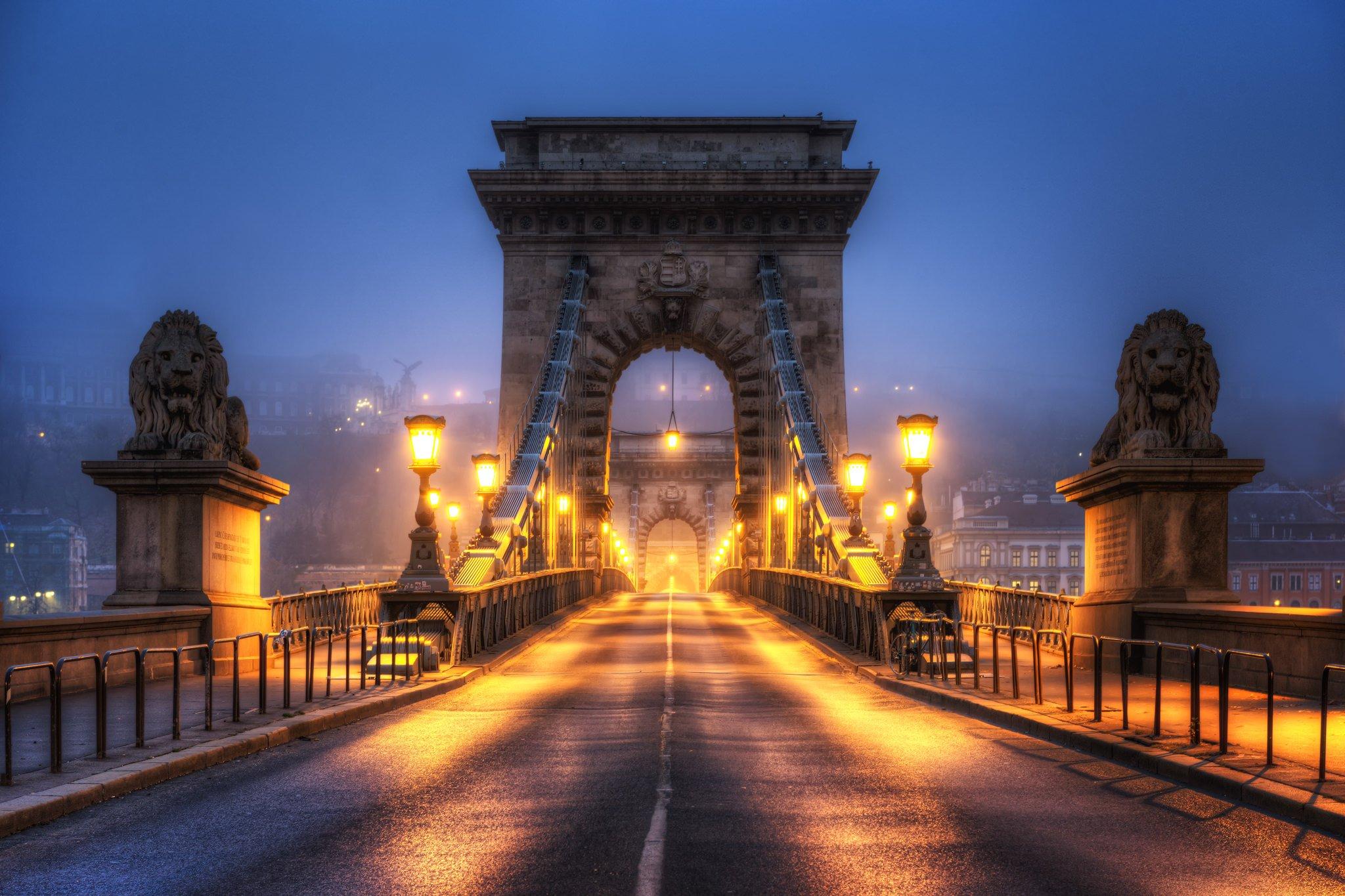 Most Łańcuchowy Széchenyi | Budapeszt, Węgry