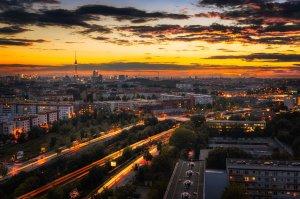 Jesienne zdjęcie Berlina i efekt mieszania czasu | Niemcy