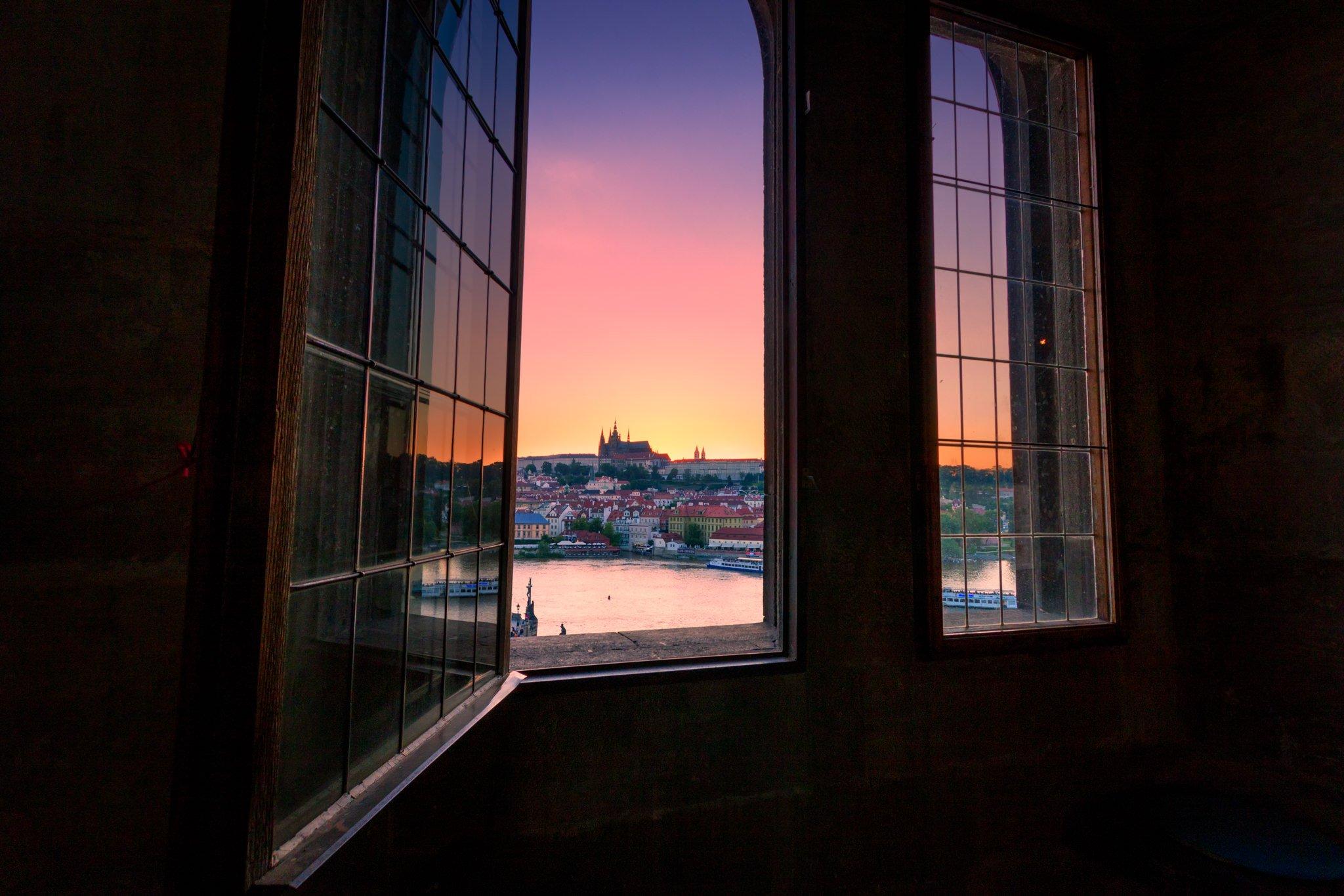 Widok z Wieży Mostu Karola | Praga, Republika Czeska