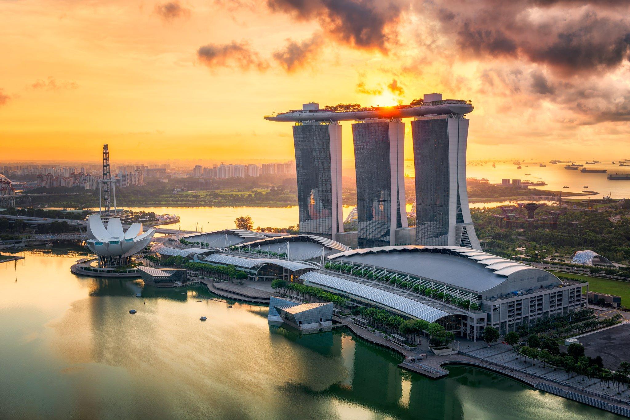 Marina Bay o wschodzie słońca | Singapur