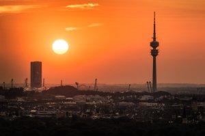 Skyline i Wieża Olimpijska | Monachium, Niemcy