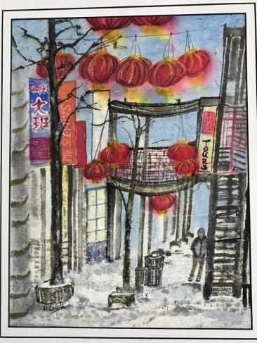 """Dee Ann Layton """"Chinatown L platform, Chicago"""