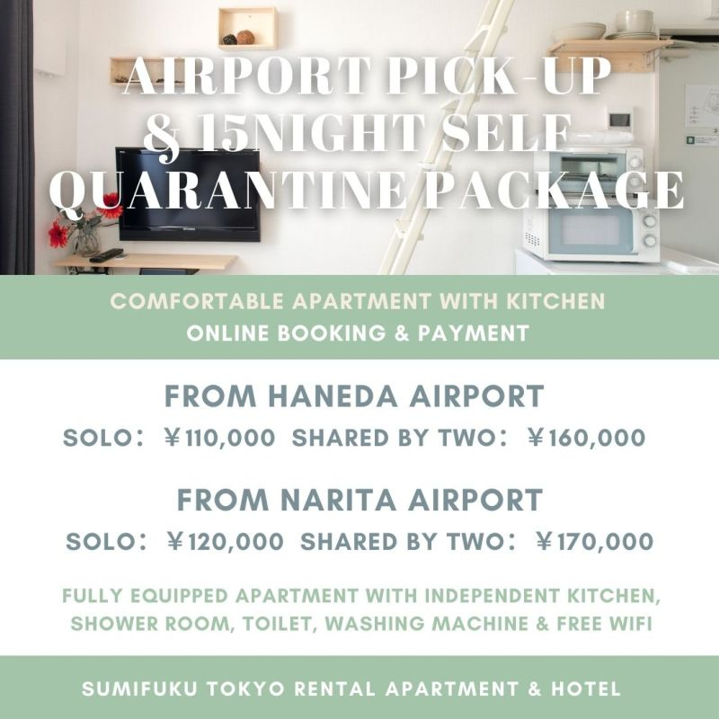 Airport pick-up and 15 night self-quarantine package