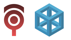 中の抜けた立方体ロゴ作成 #012