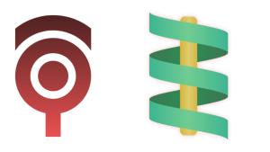 sin関数で巻き付くリボンのロゴ作成  #015