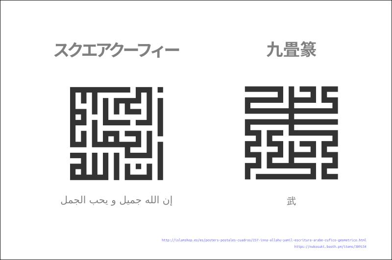 【眺墨賞】スクエアクーフィーと九畳篆 #009