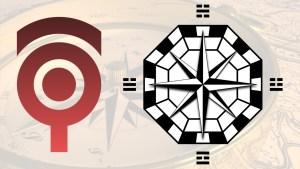 シンプル!和洋折衷な羅針盤のイラスト #047
