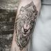 wolf ornamental tattoo in nepal by sumina shrestha